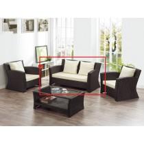A236藤椅雙人沙發