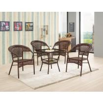 丹比休閒桌(1桌4椅)