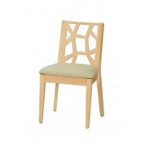 依爾馬餐椅(布)(實木)(1入)