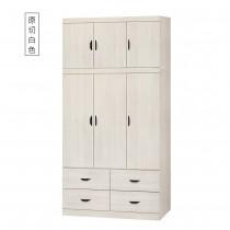 原切白4X8衣櫥(401+401-1)(共兩色)