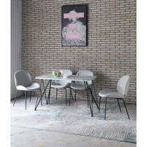 亞格4.3尺石面餐桌椅組(1桌4椅)(餐椅兩色可選)