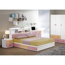 安妮塔5尺書架型雙人床