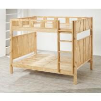 瑞拉多功能可拆式紐松全實木雙層床