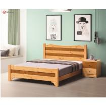 雅歌檜木色5尺雙人床(實木床板)