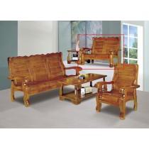 南洋檜木實木雙人椅(502)
