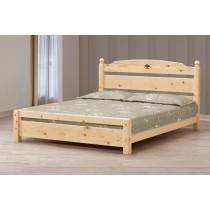 5尺松木雙人床