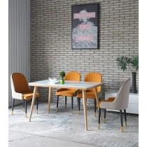 奈登4.3尺石面餐桌椅組(1桌4椅)