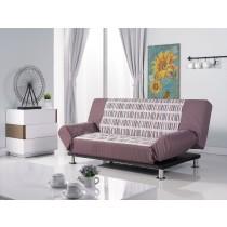 手繪感咖啡色條紋功能沙發床(A213)