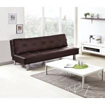 時尚簡約咖啡色皮沙發床(T19)