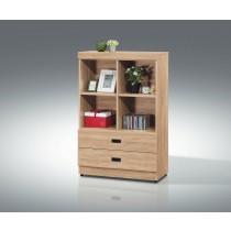 (F19)2.7X4尺原切色書櫃/書櫥