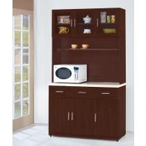威碩胡桃色4尺石面餐櫃全組(V32+V32-1)