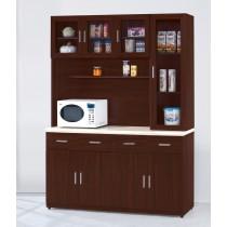 威碩胡桃色5.3尺石面餐櫃全組(V33+V32-1+V33)