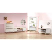 小空間淺木色收納立櫃(IR-SH001)