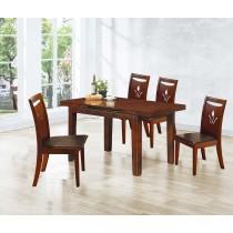 302拉合實木餐桌椅(1桌4椅)