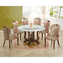 806大理石圓餐桌