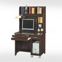 3尺胡桃色電腦桌全組