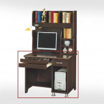 3尺胡桃色電腦桌下座