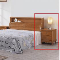 古典柚木色床頭櫃(單只)