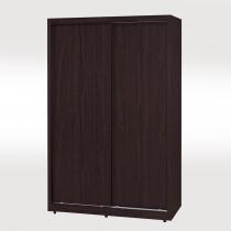 克威爾胡桃色4X7尺推門衣櫥