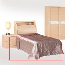 全封白橡色3.5尺床底(夾板、耐磨、耐刮)