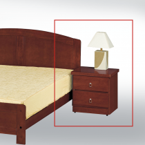 柚木色床頭櫃(木心板製)