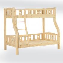 松木紋雙層床架(樓梯型)