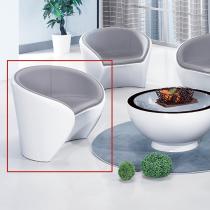 塑鋼休閒單人沙發(單只)