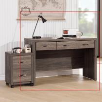 亞瑟鋼刷4尺三抽書桌(233)