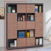 凡賽斯柚木雙色書櫃(左)(FBG208-1)