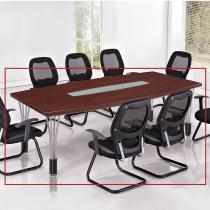 胡桃色8尺會議桌