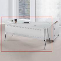 烤漆白色6尺辦公主桌(面右不含側櫃、活動櫃)(B019)(1503)