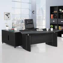 皮製6.6尺L型辦公桌組(含側櫃、活動櫃,不含辦公椅)(A908)