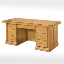 檜木色6尺辦公桌(含玻)(9570)