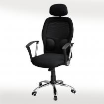 高背網布辦公椅(黑)(8515A)