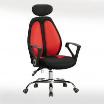 高背網布辦公椅(黑/紅)(B20)