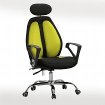 高背網布辦公椅(黑/綠)(B20)
