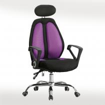 高背網布辦公椅(黑/紫)(B20)