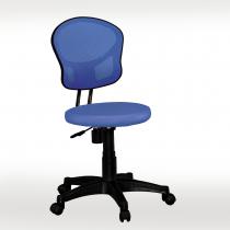 藍色網布辦公椅(坐墊PU成型泡棉)