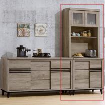 古橡木色2.7尺碗盤櫃組(171+174)