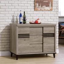 古橡木色4尺碗櫃下座(172)