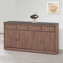 古典工業風柚木色5.3尺碗櫃下座(410含石)