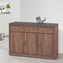 古典工業風柚木色2.7尺碗櫃組(415+406含石)