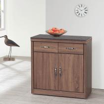 古典工業風柚木色2.4尺碗櫃下座(406含石)
