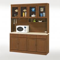 丹尼爾樟木色仿石紋面5.3尺碗盤櫃組(307+303A)