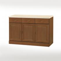 丹尼爾樟木色仿石紋面4尺碗盤下櫃(302A)