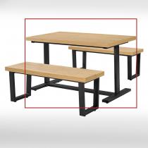 4.3尺木紋休閒長方桌(不含椅)