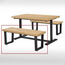 4尺木紋休閒長條椅 (單只)