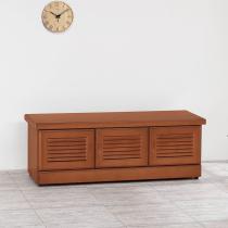 艾德里樟木色4尺坐鞋櫃(內附一大一小隔板)(A38)