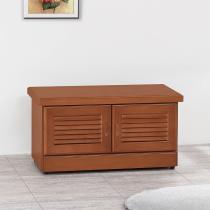 艾德里樟木色2.7尺坐鞋櫃(內附一片隔板)(A37)
