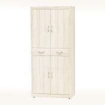 白雪松色6尺鞋櫃(隔板六片)